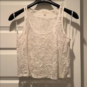 Forever 21 Lace Crop Top - L
